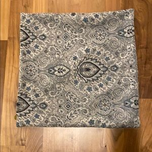 Pier 1 pillow covers -blue and grey tones
